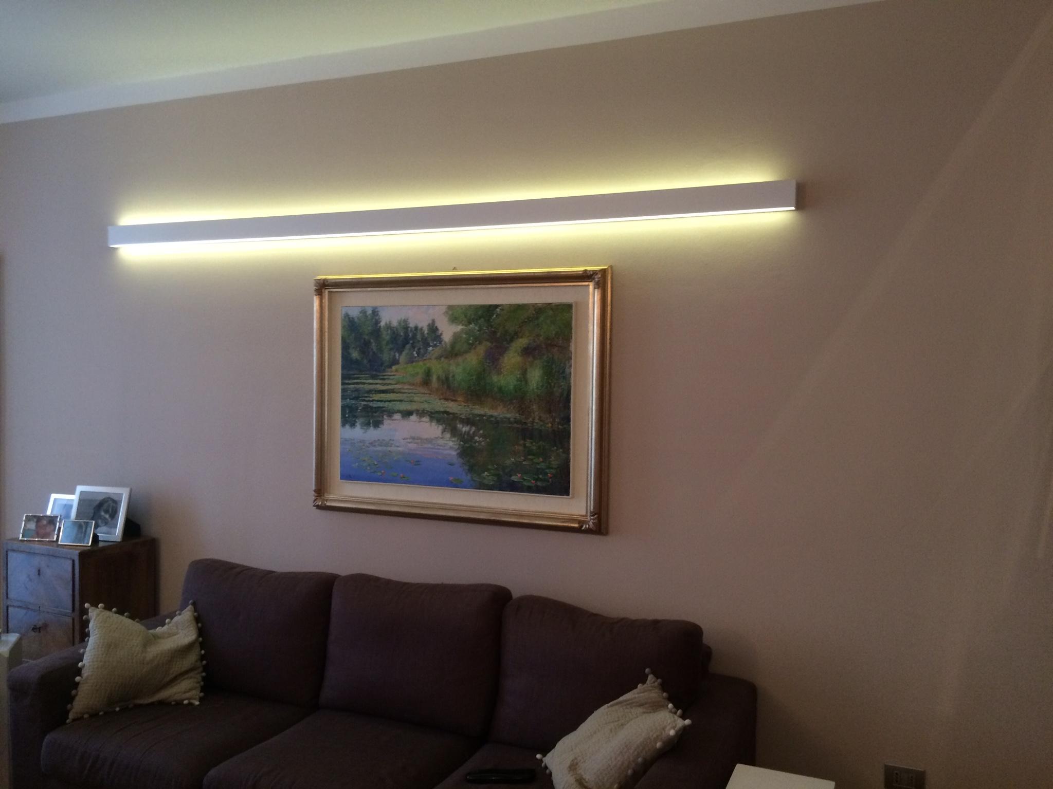 Applique alluminio bianca led con telecomando lombardi lampadari