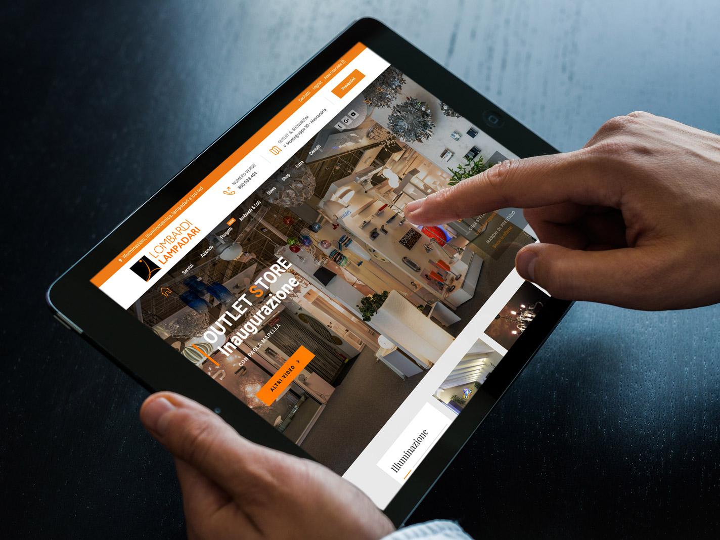 Lombardi nuovo sito grafica intuitiva moderna lombardi for Arredatori online