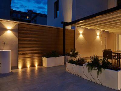 illuminazione da terra per esterno