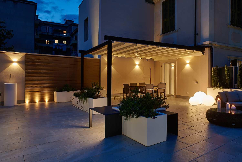 Illuminazione terrazzo pergola lombardi lampadari