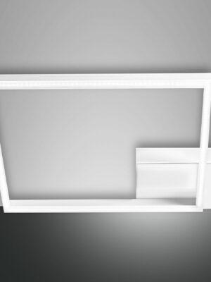 Plafoniera quadrata bianca