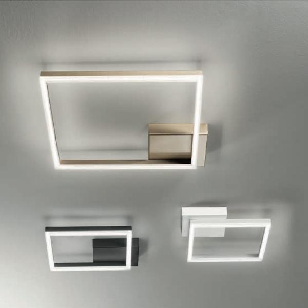 Plafoniera quadrata lombardi lampadari