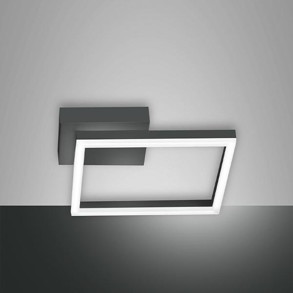 plafoniera quadrata piccola nera